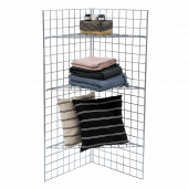 5ft Gridwall Corner Display Unit propped