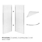 5ft Gridwall Corner Display Kit