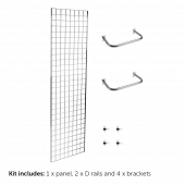 6ft Single Sided Gridwall Display Kit with Rails