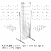 6ft Gridwall Double Sided Display Kit