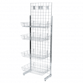 6ft Gridwall Single Sided Display Kit with Shelves