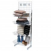 Gridwall mesh stand for retail displays