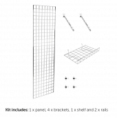 6ft Gridwall Wall Mounting Display Kit