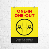 Social Distancing Posters, business information posters