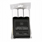 Thick white liquid chalk pens from UK POS