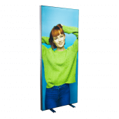 LED Light Box Display Stand with printed fabric tension banner