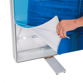 LED fabric tension banner stand available single or double sided