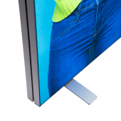 Fabric tension banner display stand with LED illumindation