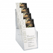 1/3 A4 (third A4 leaflet holder) with four tiers