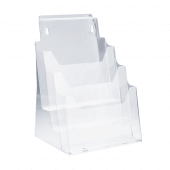 Multipurpose four tier leaflet holder in budget styrene