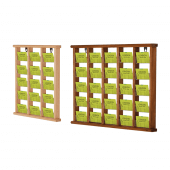 Wooden Wall Mounted Leaflet Holders in light or dark wood