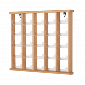 Wall Mounted Wooden Card Holder Rack