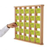 Use a Wooden Wall Mounted Card Holders for an attractive wall display