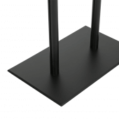This sturdy black lectern stand has rubber feet for stability