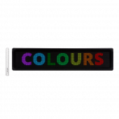 Programmable LED sign with multicolour scrolling LED text display