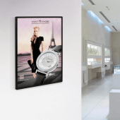 An LED poster light box is ideal for use in high end retail