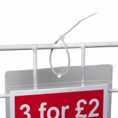 Our Cable Ties (aka zip ties) are ideal for use on display baskets