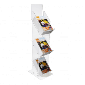 Three tier magazine stand