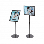 Adjustable Black Floor Standing Snap Frame landscape