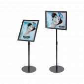 Adjustable Black Floor Standing Snap Frame landscape