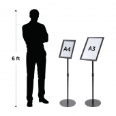 Adjustable Black Floor Standing Snap Frame
