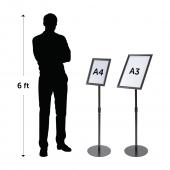 Adjustable Black Floor Standing Snap Frame