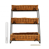 Tiered wicker basket display stand