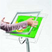Floor Standing LED Poster Holder frame open