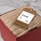 String tags give your products a rustic, stylish feel