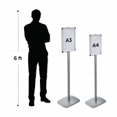 Freestanding Poster Holder comes in two sizes