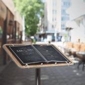 Restaurant menu display