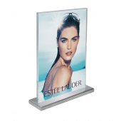 Supervue Metal Counter Standing Poster Holder