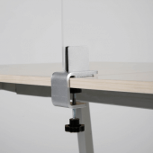 The desk clamp can fit table edges from 6mm - 40mm thick