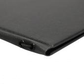 Black menu cover