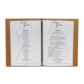 Menu folder with space for four A4 sheets