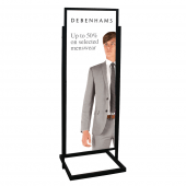 Double Sided Display Board Black 50 x 170cm