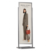 Double Sided Display Board Silver 50 x 170cm