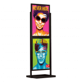 Double Sided Display Board Black 2 x A1
