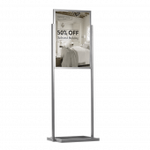 Double Sided Display Board Silver 1 x A1