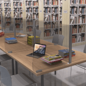 Desk screens are an ideal hygiene solution for offices and libraries