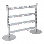 Four Tier Hook In-Queue Merchandising System