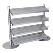 Four Tier Shelves In-Queue Merchandising System