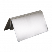 Stainless Steel Menu Holder base 10cm W x 7.5cm D