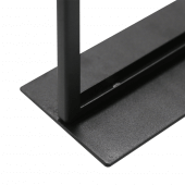 Wide base for stability, which can be screwed into your countertop