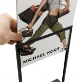 Slide your Foamex board easily into the Metal Table Sign Holder