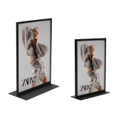 Double Sided Metal Table Sign Holders available with or without print