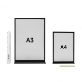A3 and A4 poster display holders available with printed posters
