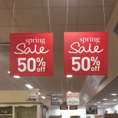 Nylon Wire Reel can be used to hang large signage in store