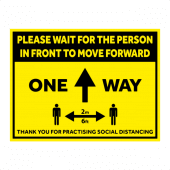 One Way floor signage