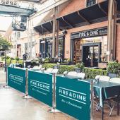 Chrome Cafe Barriers